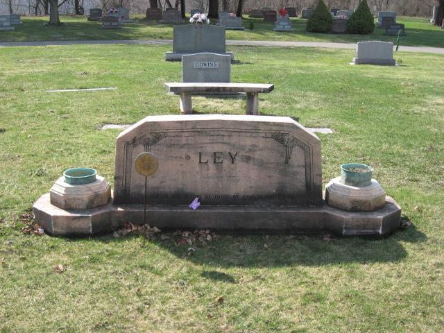 Robert Ley headstone rear Evergreen Burial Park New Phila, Ohio