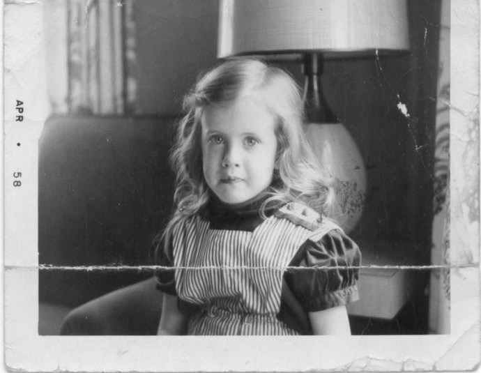 Janet Ley, age 5, 1958